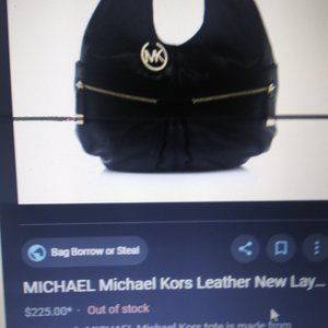 purple Michael Kor tote bag